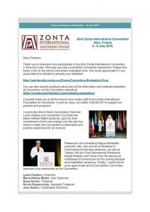 newsletter post convention