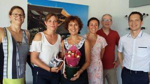 Laurène Pichon a organisé un verre de l′amitié pour fêter sa réussite